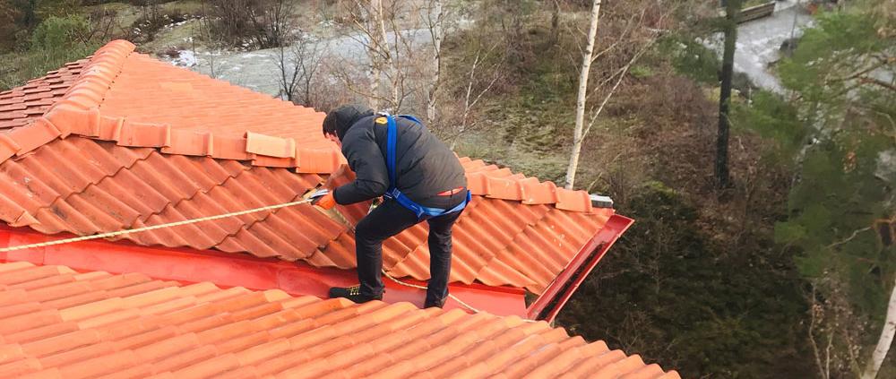 Rent och snyggt tak